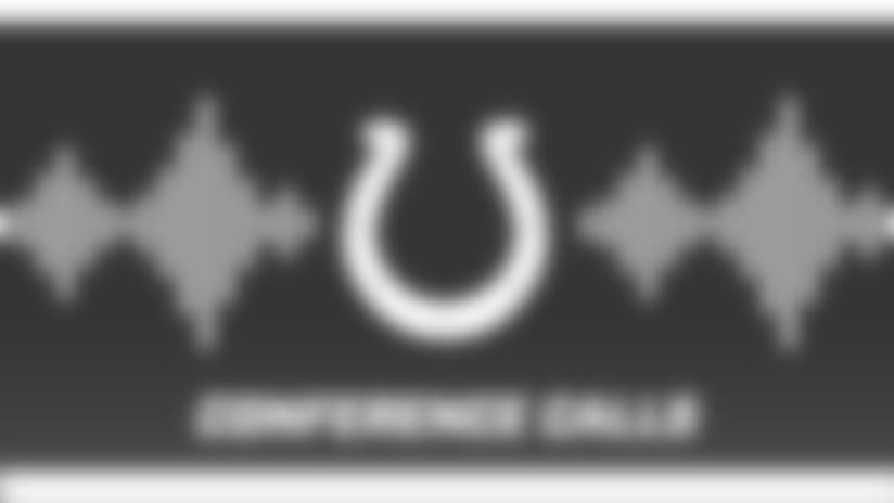 Colts Conference Calls Audio