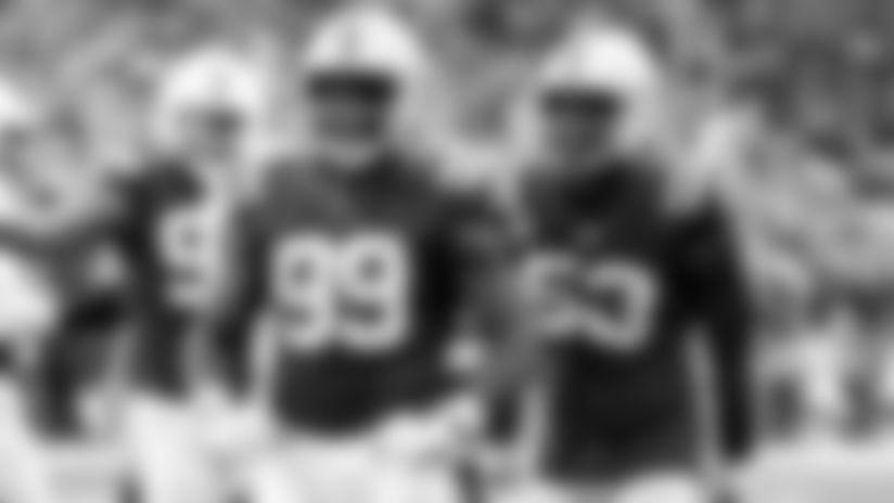 #99 defensive end Justin Houston