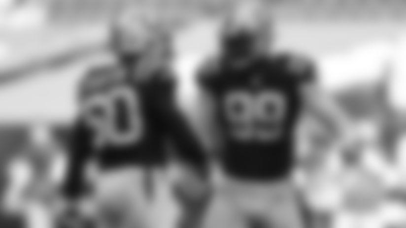#50 DE Justin Houston, #99 DT DeForest Buckner