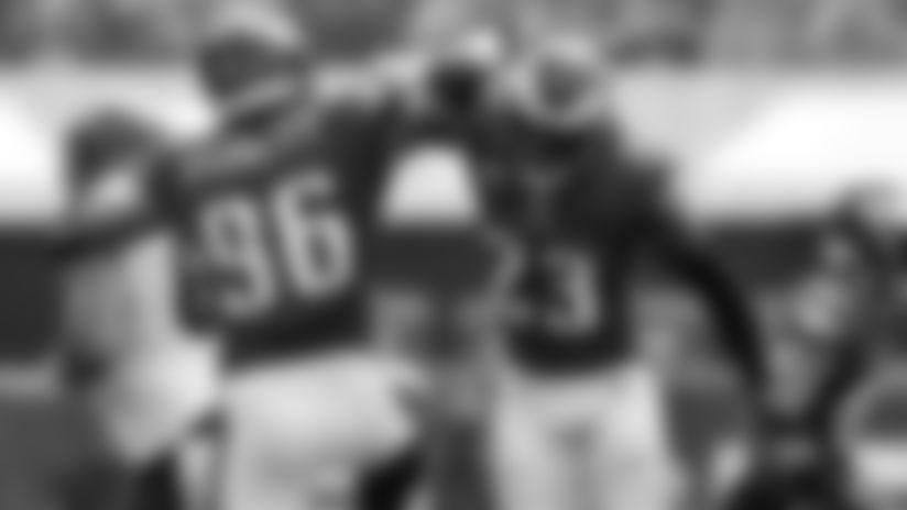 DE Derek Barnett and S Rodney McLeod  Philadelphia Eagles vs. Cincinnati Bengals at Lincoln Financial Field on September 27, 2020