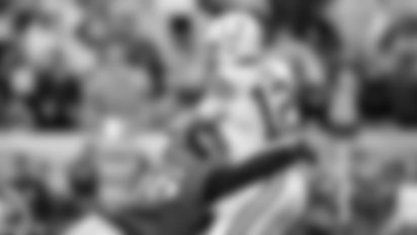 DE Derek Barnett gets to Colts QB Andrew Luck