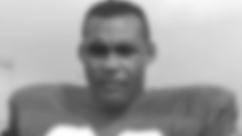 FILE - This July 21, 1964 file photo shows Ollie Matson, halfback for the Philadelphia Eagles, posing at the team's training camp in Hershey, Pa. NFL Hall of Famer Matson died of respiratory failure Saturday, Feb. 19, 2011, in Los Angeles, his nephew Art Thompson III told The Associated Press. He was 80. (AP Photo, File)