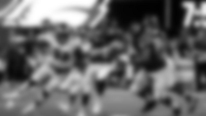 Atlanta Falcons quarterback Matt Ryan #2 run the ball during the second quarter against the Philadelphia Eagles at Mercedes-Benz Stadium in Atlanta, GA, on Sunday September 15, 2019. (Photo by Kelly Kline/Atlanta Falcons)