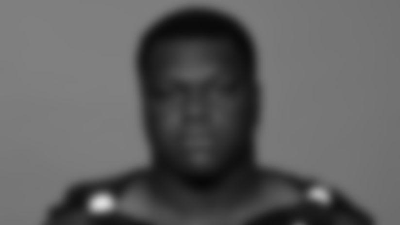 This is a 2021 photo of Marlon Davidson of the Atlanta Falcons NFL football team.  This image reflects the Atlanta Falcons active roster as of July 27, 2021 when this image was taken.  (AP Photo)