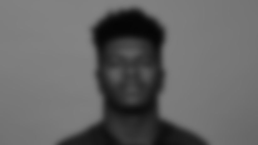 This is a 2021 photo of Jaylinn Hawkins of the Atlanta Falcons NFL football team.  This image reflects the Atlanta Falcons active roster as of July 27, 2021 when this image was taken.  (AP Photo)