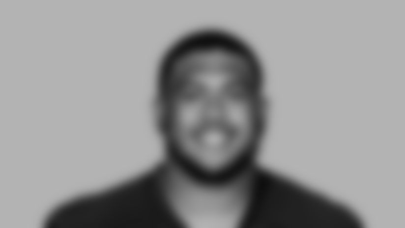 This is a 2020 photo of defensive end Austin Edwards #95  of the Atlanta Falcons NFL football team.  This image reflects the Atlanta Falcons active roster as of August 10, 2020 when this image was taken.  (AP Photo)