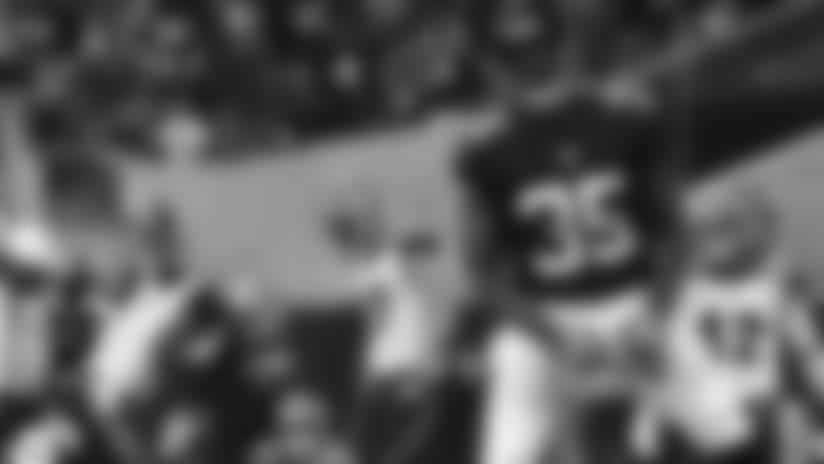 Falcons special teams swarm Bengals punter with a block