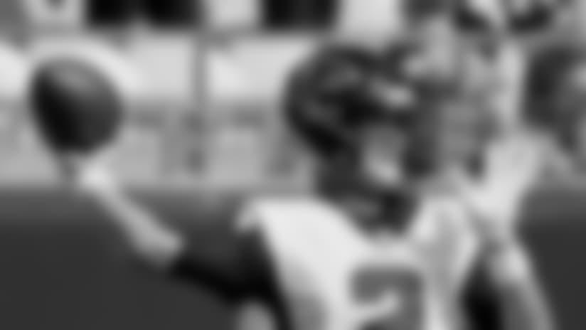 Atlanta Falcons quarterback Matt Ryan (2) warms up before an NFL football game against the Pittsburgh Steelers, Sunday, Oct. 7, 2018, in Pittsburgh. (AP Photo/Gene J. Puskar)