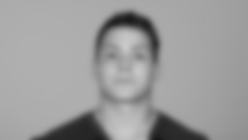 This is a 2021 photo of John Raine of the Atlanta Falcons NFL football team.  This image reflects the Atlanta Falcons active roster as of May 12, 2021 when this image was taken.  (AP Photo)
