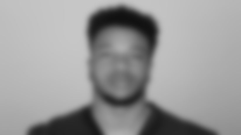 This is a 2021 photo of Dorian Etheridge of the Atlanta Falcons NFL football team.  This image reflects the Atlanta Falcons active roster as of May 12, 2021 when this image was taken.  (AP Photo)