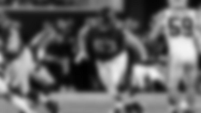 Atlanta Falcons offensive guard Chris Lindstrom #63 in action against the Carolina Panthers at Mercedes-Benz Stadium in Atlanta, GA, on Sunday December 8, 2019. (Photo by Kara Durrette/Atlanta Falcons)