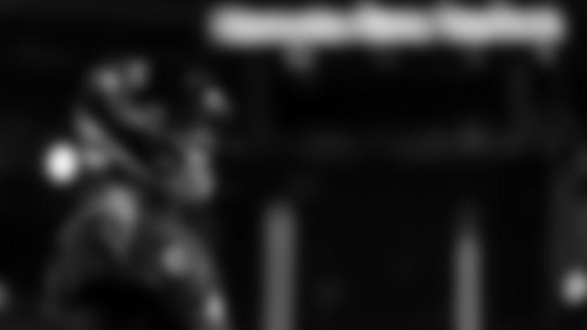 Atlanta Falcons quarterback Matt Ryan #2 warms up before the game between the Atlanta Falcons and the New Orleans Saints at Mercedes-Benz Stadium in Atlanta, GA, on Thursday November 28, 2019. (Photo by Cato Cataldo/Atlanta Falcons)