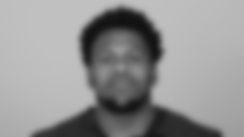 This is a 2021 photo of Caleb Huntley of the Atlanta Falcons NFL football team.  This image reflects the Atlanta Falcons active roster as of May 12, 2021 when this image was taken.  (AP Photo)