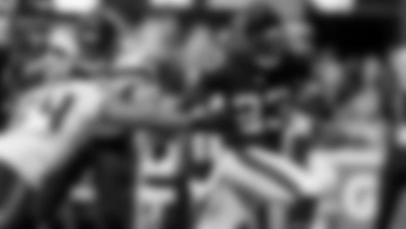 Sideline Access: Brian Hill runs through Seahawks defense for a touchdown
