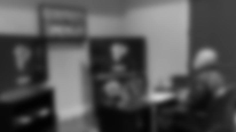 Atlanta Falcons head coach Dan Quinn in his home war room for the 2020 NFL Draft. (Courtesy of Dan Quinn)