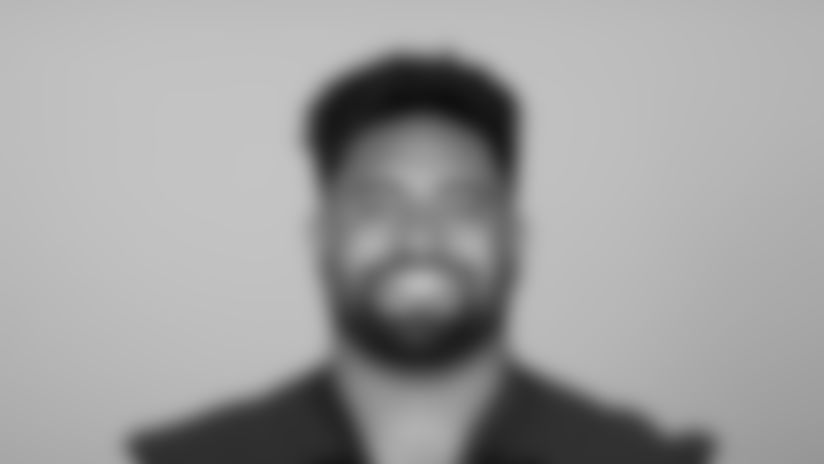 This is a 2021 photo of Olive Sagapolu of the Atlanta Falcons NFL football team.  This image reflects the Atlanta Falcons active roster as of May 12, 2021 when this image was taken.  (AP Photo)