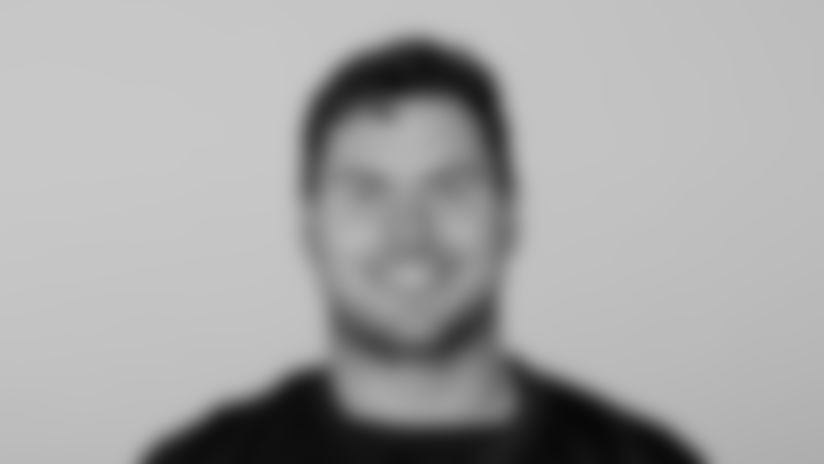 This is a 2021 photo of Drew Dalman of the Atlanta Falcons NFL football team.  This image reflects the Atlanta Falcons active roster as of May 12, 2021 when this image was taken.  (AP Photo)