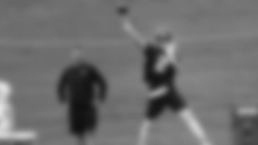 Atlanta Falcons quarterback Matt Ryan (2) throws a pass as offensive coordinator Steve Sarkisian looks during NFL football minicamp, Tuesday, June 12, 2018, in Flowery Branch, Ga. (AP Photo/John Bazemore)