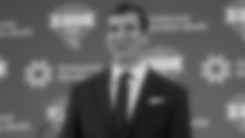 New York Giants quarterback Eli Manning (10) announces his retirement to the media after after 16 seasons with the New York Giants at Quest Diagnostics Training Center on Friday January 23rd, 2020 in East Rutherford, New