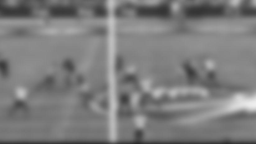 TJ Brunson open field tackle