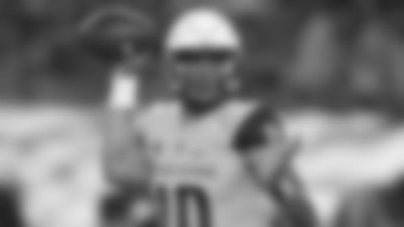 Utah State quarterback Jordan Love during an NCAA football game against San Diego State on Saturday, Sept. 21, 2019 in San Diego. (AP Photo/Kyusung Gong)