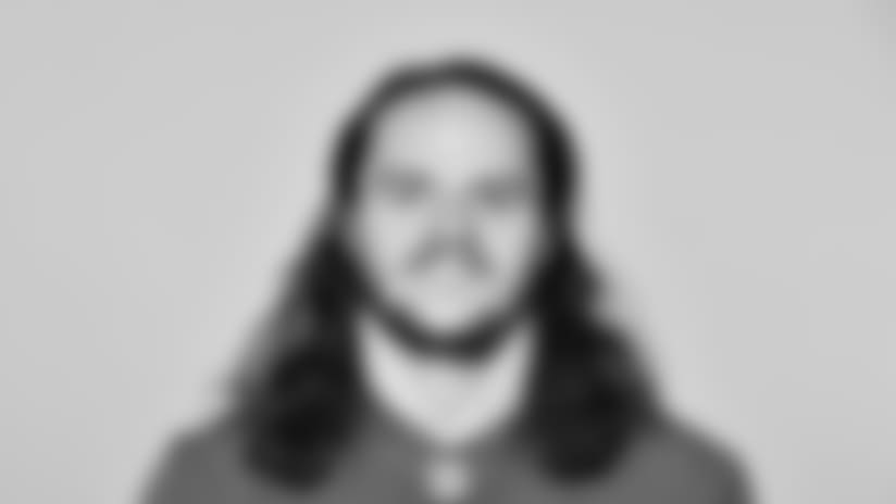 This is a 2018 photo of Kristjan Sokoli  of the New York Giants NFL football team. This image reflects the New York Giants active roster as of June 11, 2018 when this image was taken. (AP Photo)