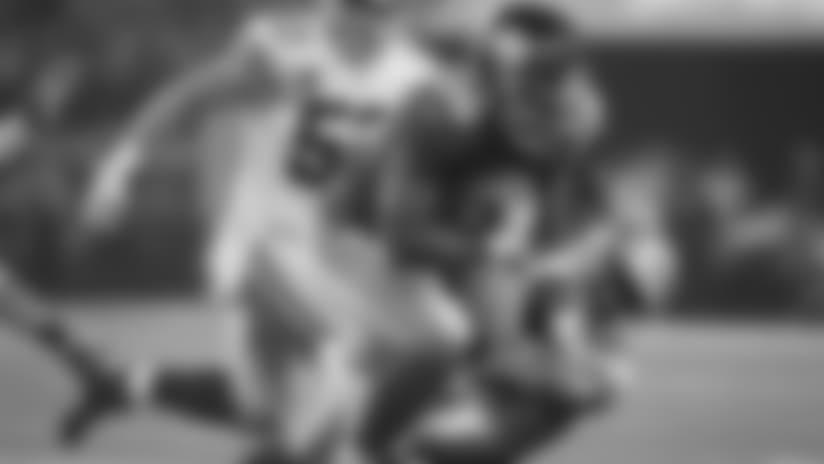 New York Giants running back Saquon Barkley (26) runs past Dallas Cowboys cornerback Chidobe Awuzie (24) during the first half of an NFL football game in Arlington, Texas, Sunday, Sept. 16, 2018. (AP Photo/Ron Jenkins)
