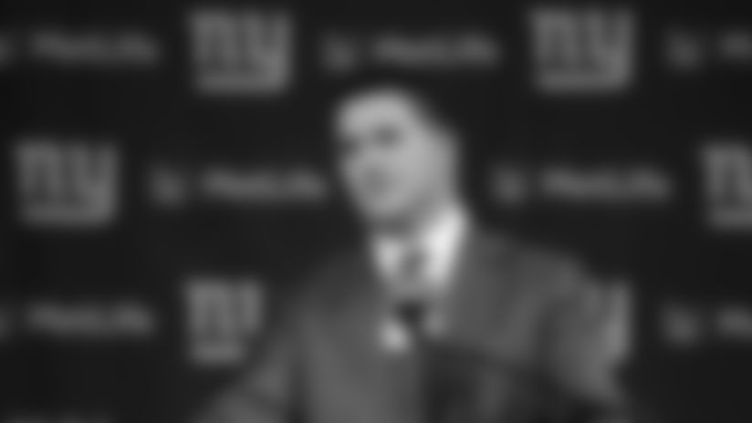 New York Giants head coach Joe Judge speaks to tthe media after being named the 19th head coach of the New York Giants at a press conference at Met Life Stadium on Thursday January 8th, 2020in East Rutherford, New Jersey