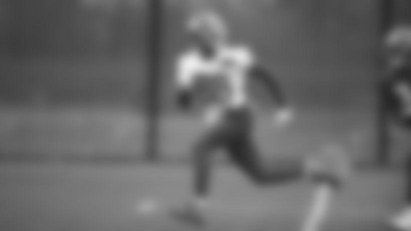 New York Giants wide receiver Darius Slayton (86) practices rookie mini camp on Friday May 3, 2019 in East Rutherford, NJ. (Evan Pinkus via AP)
