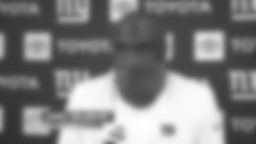 CB James Bradberry on first interception as a Giant