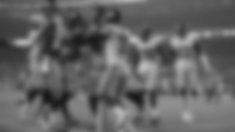 B.J. Goodson intercepts Mullens pass off deflection
