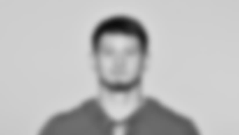 This is a 2018 photo of Aldrick Rosas of the New York Giants NFL football team. This image reflects the New York Giants active roster as of June 11, 2018 when this image was taken. (AP Photo)