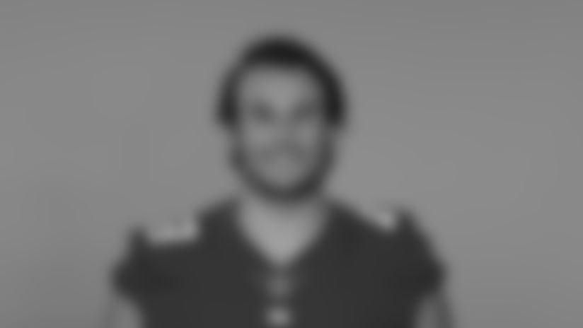 This is a 2020 photo of Niko Lalos of the New York Giants NFL football team. This image reflects the New York Giants active roster as of August 1, 2020 when this image was taken. (AP Photo)