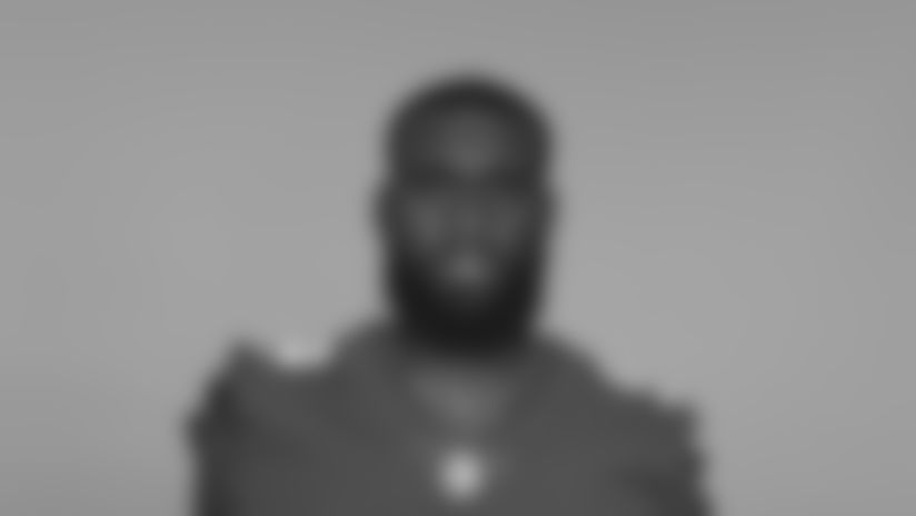 This is a 2020 photo of Binjimen Victor of the New York Giants NFL football team. This image reflects the New York Giants active roster as of August 1, 2020 when this image was taken. (AP Photo)