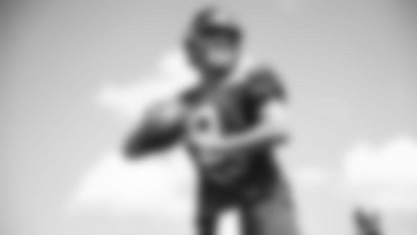QB Daniel Jones (8) at New York Giants Training Camp 2019 at Quest Diagnostics Training Center in East Rutherford, NJ
