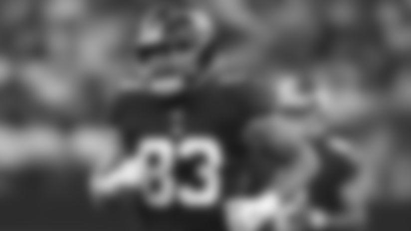 New York Giants tight end Eric Tomlinson (83) during an NFL football game against the Dallas Cowboys, Sunday September 8, 2019 in Arlington,Texas. (Evan Pinkus via AP)