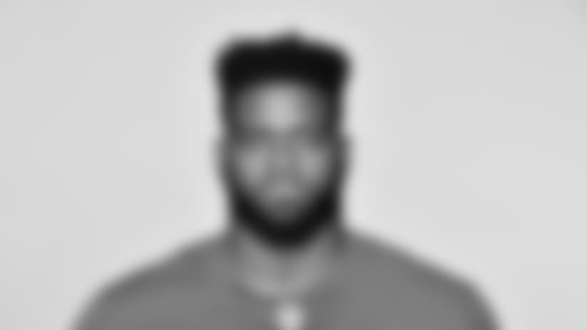 This is a 2018 photo of Patrick Omameh of the New York Giants NFL football team. This image reflects the New York Giants active roster as of June 11, 2018 when this image was taken. (AP Photo)