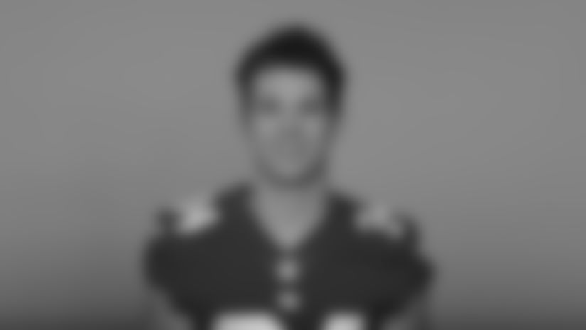 This is a 2020 photo of Sandro Platzgummer of the New York Giants NFL football team. This image reflects the New York Giants active roster as of August 1, 2020 when this image was taken. (AP Photo)