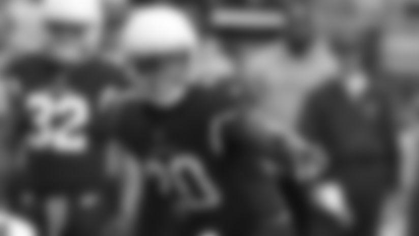 Arizona Cardinals inside linebacker Deone Bucannon (20) during an NFL football game against the New York Giants, Sunday, Dec. 24, 2017, in Glendale, Ariz. The Cardinals won 23-0. (AP Photo/Rick Scuteri)