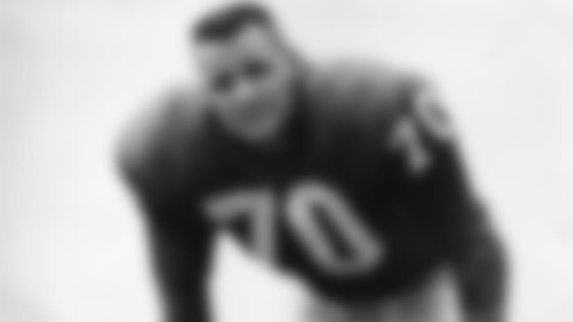 New York Giants Hall of Fame linebacker Sam Huff in an undated image, circa 1956-63.