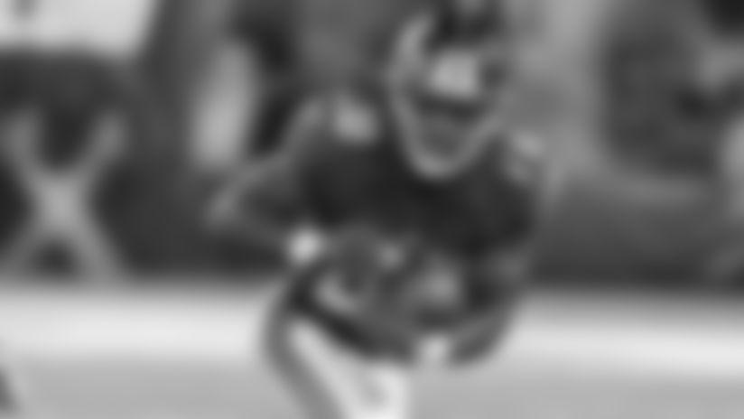 New York Giants running back Paul Perkins (28) during a preseason week 2 game against the Chicago Bears at Met Life Stadium in East Rutherford, NJ