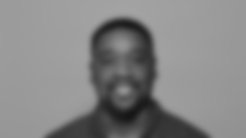 This is a 2021 photo of Ben Wilkerson of the New York Giants NFL football team. This image reflects the New York Giants active roster as of April 16, 2021 when this image was taken. (Evan Pinkus New York Giants)