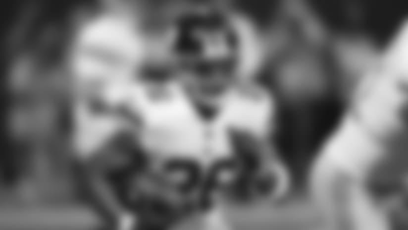 New York Giants running back Saquon Barkley (26) runs against the Atlanta Falcons during the first half of an NFL football game, Monday, Oct. 22, 2018, in Atlanta. (AP Photo/John Bazemore)