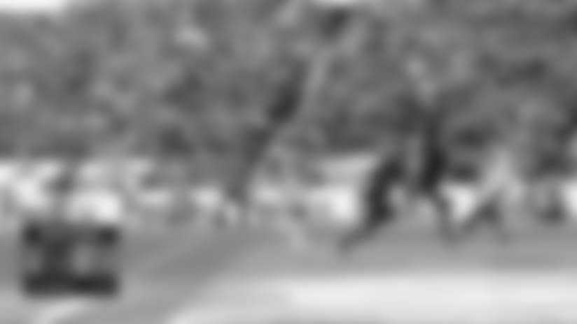Jalen Ramsey LEAPS for end zone interception