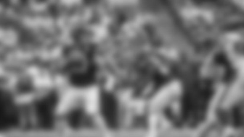 Jacksonville Jaguars quarterback Gardner Minshew (15) during an NFL football game against the Houston Texans, Sunday, Sep. 15, 2019 in Houston. (Cooper Neill/NFL)