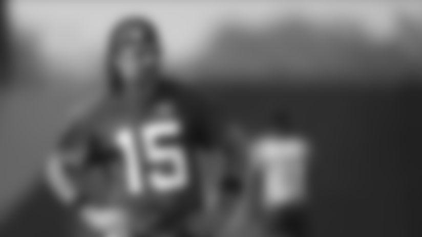 Jacksonville Jaguars quarterback Gardner Minshew II takes a break during an NFL football workout, Wednesday, Aug. 12, 2020, in Jacksonville, Fla. (AP Photo/John Raoux)
