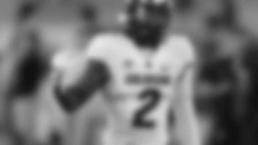 Colorado wide receiver Laviska Shenault Jr. (2) in the first half during an NCAA college football game against Arizona State, Saturday, Sept. 21, 2019, in Tempe, Ariz. (AP Photo/Rick Scuteri)