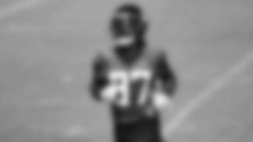 Jacksonville Jaguars cornerback Tre Herndon (37) is seen during an NFL football workout, Friday, Aug. 14, 2020, in Jacksonville, Fla. (Logan Bowles via AP)