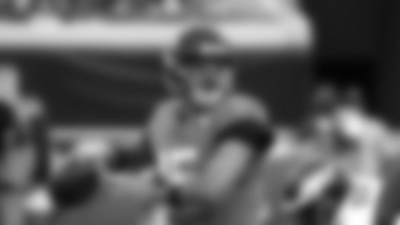 Jacksonville Jaguars quarterback Gardner Minshew looks for a receiver against the Philadelphia Eagles during the first half of an NFL preseason football game, Thursday, Aug. 15, 2019, in Jacksonville, Fla. (AP Photo/Stephen B. Morton)
