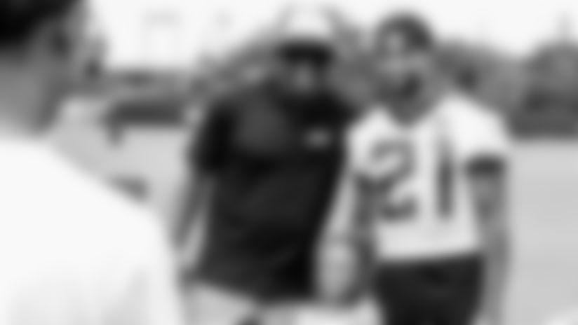 Deion Sanders 1-on-1 with corner back A.J. Bouye at Jacksonville Jaguars camp